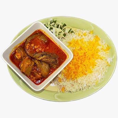 15. Eggplant Gheymeh Stew