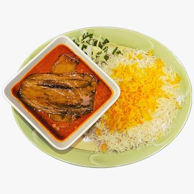42. Eggplant Gheymeh Stew