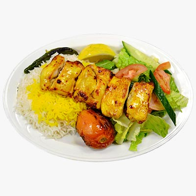 84. Boneless Chicken Kebab Lunch