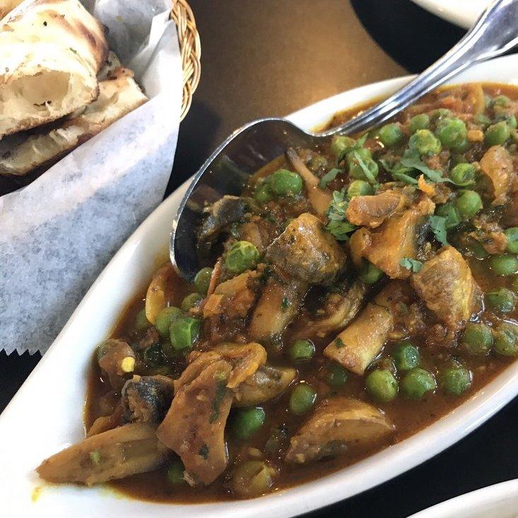 Mushrooms Mattar Masala